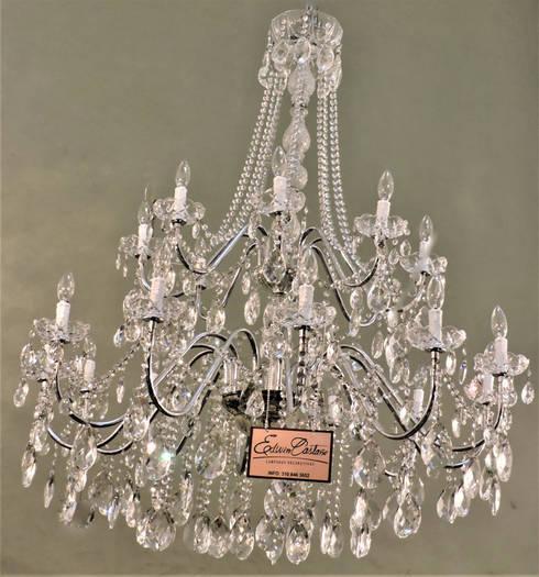LAMPARAS CHANDELIER: Hogar de estilo  por lámparas Decorativas Edwin Castaño