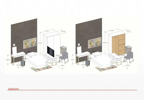 layout bedroom: modern Bedroom by jaas.design