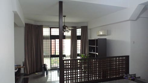 Before renovation of house: mediterranean Living room by FINE ART LIVING PTE LTD