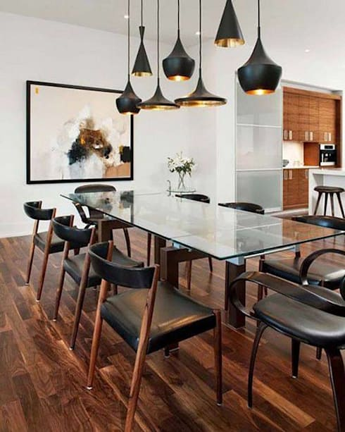 Industrial meets modern: modern Dining room by Adore Design