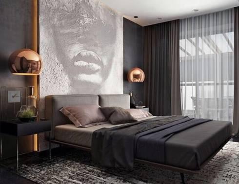 Industrial meets modern: modern Bedroom by Adore Design