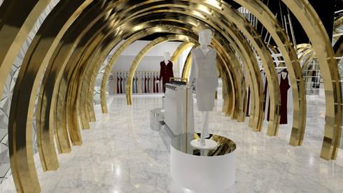 VISTA 2: Pasillos y vestíbulos de estilo  por Karla Alvarez - Arquitectura de Interiores
