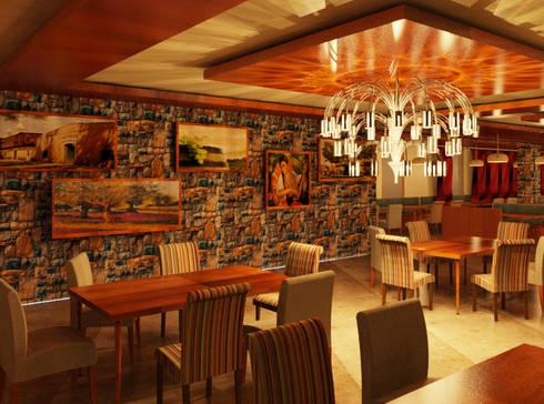 COMEDOR - RESTAURANTE: Comedores de estilo ecléctico por Karla Alvarez - Arquitectura de Interiores