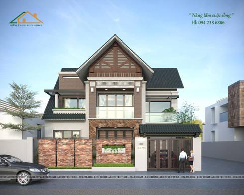Biệt thự hiện đại mái thái:   by Công ty CP kiến trúc và xây dựng Eco Home