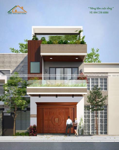 Nhà phố 2 tầng - CHú Hòa:   by Công ty CP kiến trúc và xây dựng Eco Home