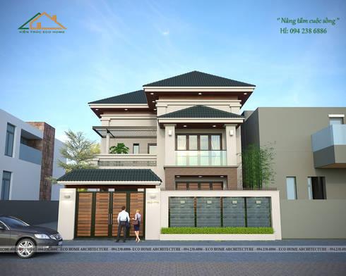 Biệt thự hiện đại tại Ứng Hòa - Hà Nội:   by Công ty CP kiến trúc và xây dựng Eco Home