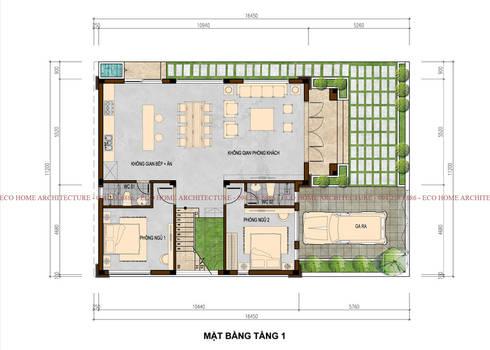 Biệt thự hiện đại tại Ứng Hòa – Hà Nội:   by Công ty CP kiến trúc và xây dựng Eco Home