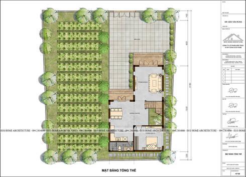 Thiết kế biệt thự tại Hưng Yên:   by Công ty CP kiến trúc và xây dựng Eco Home
