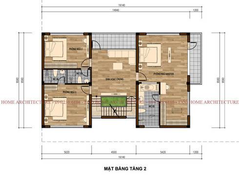 Biệt thự hiện đại phong cách Châu Âu:   by Công ty CP kiến trúc và xây dựng Eco Home