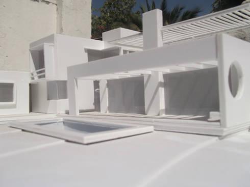 CASA SAZO: Casas unifamiliares de estilo  por AOG