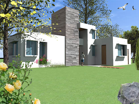 CASA TISI: Casas de estilo mediterraneo por AOG