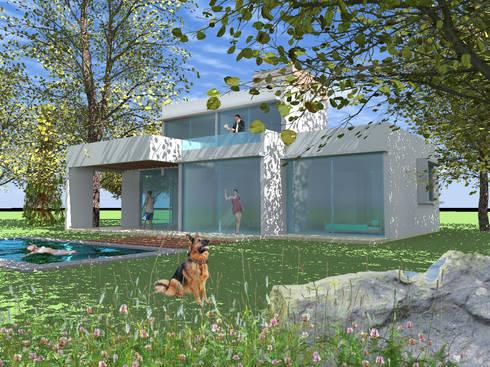 CASA TISI: Casas unifamiliares de estilo  por AOG