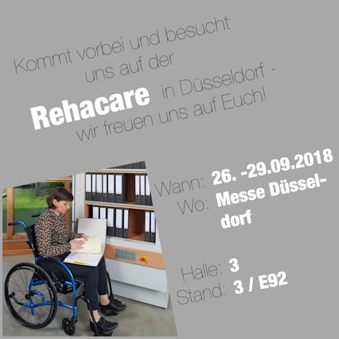 Überzeugen Sie sich! Vom 26.09. - 29.09. auf der Rehacare: moderne Arbeitszimmer von Koitka Innenausbau GmbH