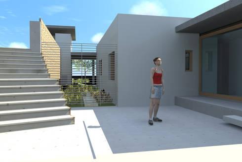CASA VIA AURORA: Casas unifamiliares de estilo  por AOG