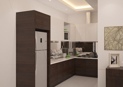 Minimalist Home Project for Mr. R: minimalistic Kitchen by Ruang Sketsa