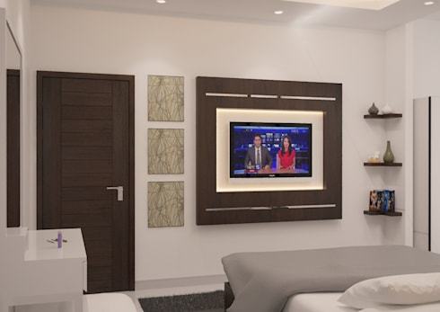 Minimalist Home Project for Mr. R: minimalistic Bedroom by Ruang Sketsa