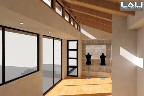 Taller Orfebre: Pasillos y hall de entrada de estilo  por Lau Arquitectos
