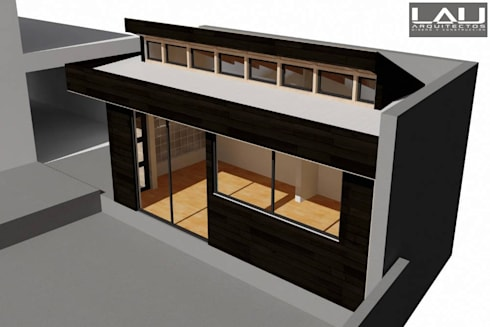 Taller Orfebre: Casas de estilo moderno por Lau Arquitectos
