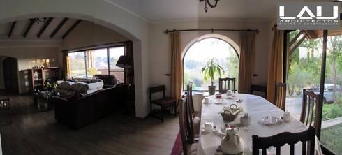 Casa Parcela: Comedores de estilo rústico por Lau Arquitectos