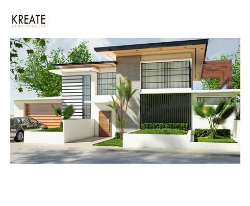 Vivienda Villa Linda.:  de estilo  por KREATE Arquitectura