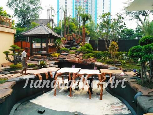 Proses Pembuatan Kolam Ikan Koi versi Tianggadha-Art:  Kolam taman by Tukang Taman Surabaya - Tianggadha-art