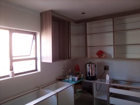 Mounting wall units - day 3.:   by Pulse Square Constructions