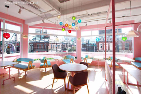 女孩不能錯過!讓人瘋狂的大勢粉色:  餐廳 by 大漢創研室內裝修設計有限公司