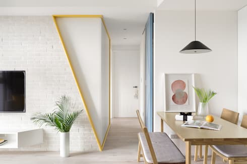 A.K.I.House:  走廊 & 玄關 by 寓子設計
