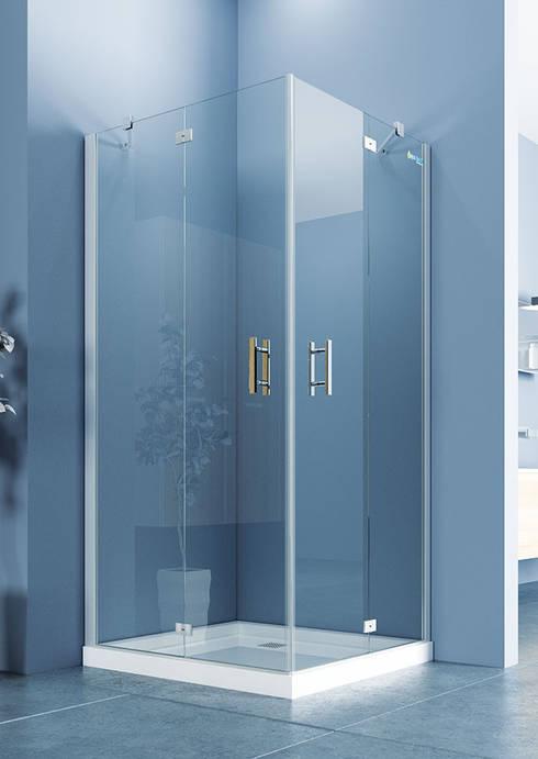 DUŞES KABİN SİSTEMLERİ SAN.TİC.LTD.ŞTİ. – İki Sabit İki Açılır Nokta Menteşe Kapı:  tarz Banyo