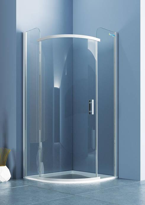 DUŞES KABİN SİSTEMLERİ SAN.TİC.LTD.ŞTİ. – Oval Tek Açılır Kapı:  tarz Banyo