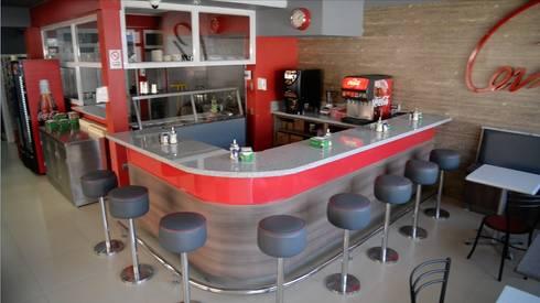 Restaurant Cevasco Calle 6 oriente: Restaurantes de estilo  por isabella cocinas