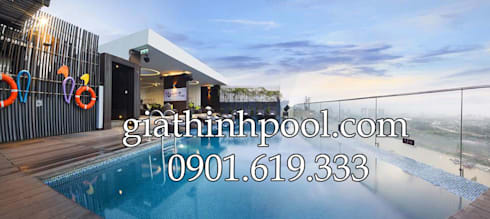 Tư vấn thiết kế hồ bơi trên sân thượng:   by GIATHINHPOOL&SPA