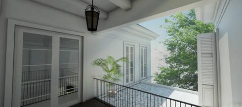Light Classic:  Koridor dan lorong by AIGI Architect + Associates