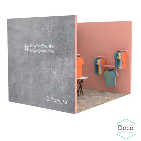 Render del stand: Centros de exhibiciones de estilo  por Decó ambientes a la medida