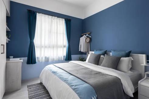 八號屋:  臥室 by 寓子設計