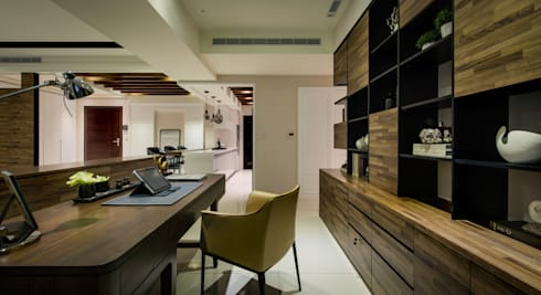 明日城:  書房/辦公室 by 星葉室內裝修有限公司