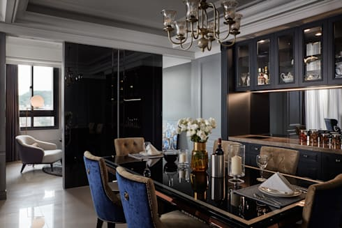 城上城新式古典:  餐廳 by 星葉室內裝修有限公司