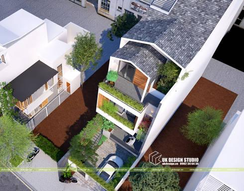 NHÀ PHỐ 6m:  Nhà gia đình by UK DESIGN STUDIO - KIẾN TRÚC UK