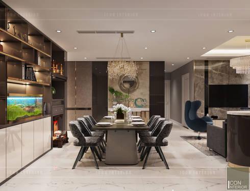 THIẾT KẾ NỘI THẤT CĂN HỘ: Kết hợp Neoclassic và Contemporary style:  Phòng ăn by ICON INTERIOR