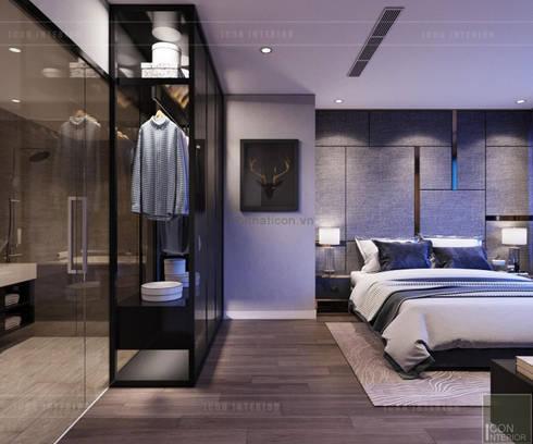 THIẾT KẾ NỘI THẤT CĂN HỘ: Kết hợp Neoclassic và Contemporary style:  Phòng ngủ by ICON INTERIOR