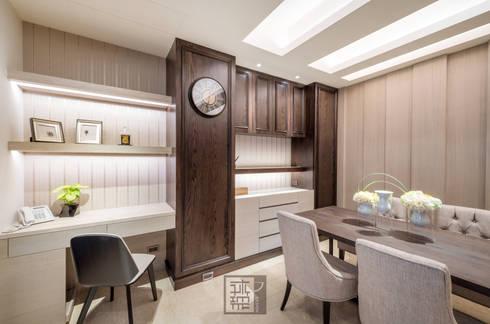 王公館:  書房/辦公室 by 沐築空間設計