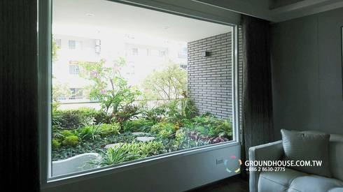 菇菇陽台?:  露臺 by 大地工房景觀公司