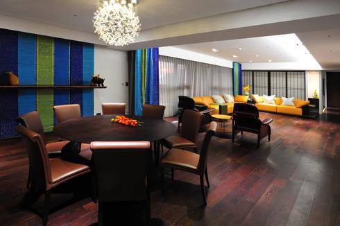 室內設計 市政廳 HL House:  餐廳 by 黃耀德建築師事務所  Adermark Design Studio