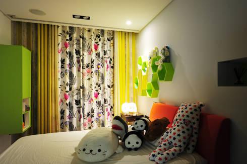 室內設計 市政廳 HL House:  臥室 by 黃耀德建築師事務所  Adermark Design Studio