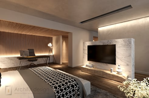Penthouse Ky Dong Plaza – district 3 – Hcm City:  Phòng ngủ by Archifix Design
