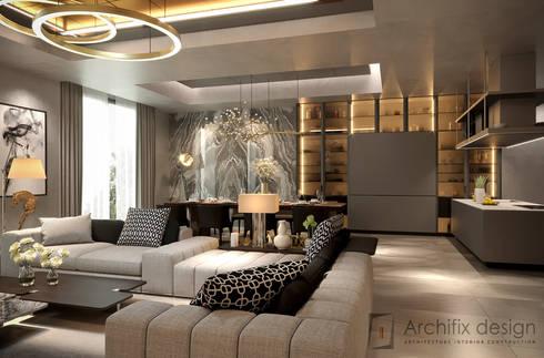 Penthouse Ky Dong Plaza – district 3 – Hcm City:  Phòng khách by Archifix Design