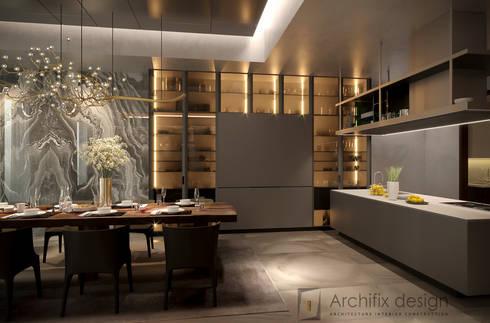 Penthouse Ky Dong Plaza – district 3 – Hcm City:  Phòng ăn by Archifix Design