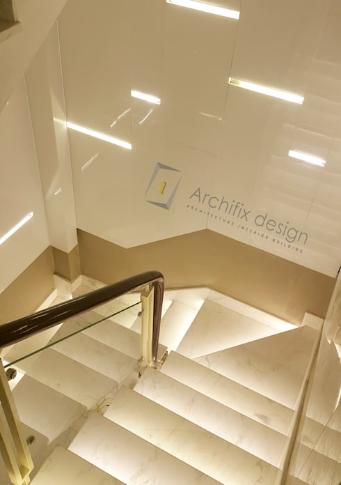 Cầu thang hiện đại:  Cầu thang by Archifix Design