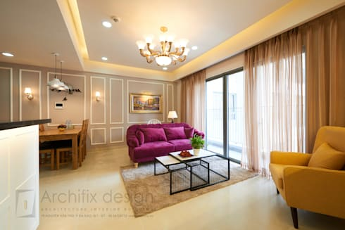 Căn hộ Masteri:  Phòng khách by Archifix Design