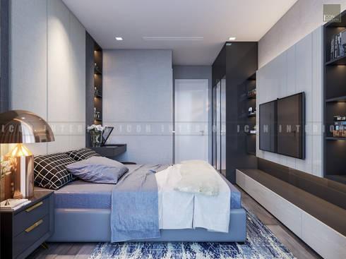 Căn hộ Vinhomes Golden River với THIẾT KẾ HIỆN ĐẠI THANH LỊCH :  Phòng ngủ by ICON INTERIOR